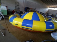 Inflatable Saturn Rocker with Stainless Steel Anchor Rings for Water Park / swimming pool / lake