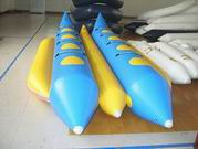 Rave Sports Dual Tubes Banana Boat In Blue and Yellow - 8 Riders